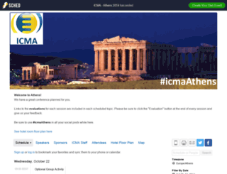icmaathens2014.sched.org screenshot
