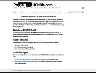 icndb.com screenshot