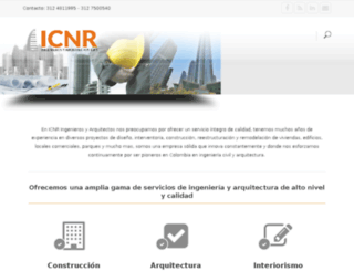 icnringenierosyarquitectos.com screenshot