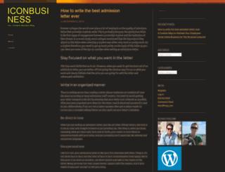 iconbusiness.wordpress.com screenshot