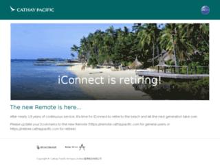 iconnect.cathaypacific.com screenshot