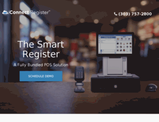 iconnectcashregister.com screenshot