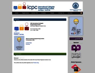 icpc.sharif.edu screenshot