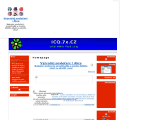 icq.7x.cz screenshot