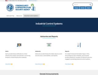 ics-cert.us-cert.gov screenshot