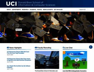 ics.uci.edu screenshot