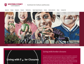 ics.uws.edu.au screenshot