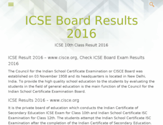 icse.results-co.in screenshot