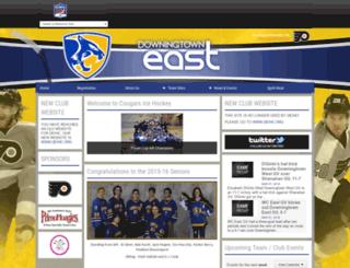 icshl_eastcougars.pointstreaksites.com screenshot