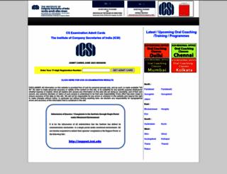 icsi.indiaeducation.net screenshot