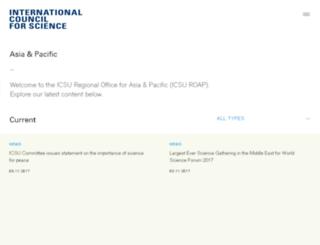 icsu-asia-pacific.org screenshot