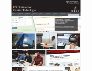 ict.usc.edu screenshot