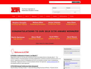 ictm.org screenshot