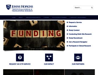 ictr.johnshopkins.edu screenshot
