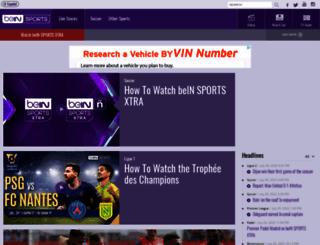 id.beinsports.com screenshot