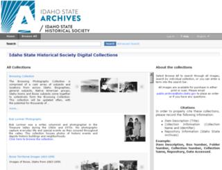 idahohistory.cdmhost.com screenshot