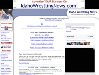 idahowrestlingnews.com screenshot