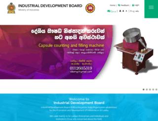 idb.gov.lk screenshot