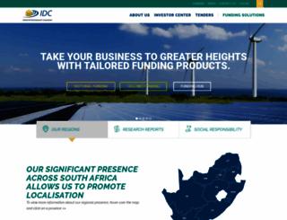 idc.co.za screenshot