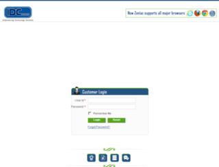 idc.zoniac.com screenshot