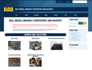 idea.library.drexel.edu screenshot