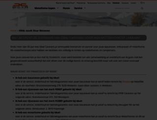 ideal-caravans.be screenshot