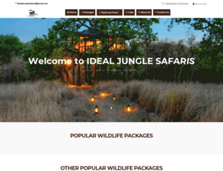 idealjunglesafaris.com screenshot