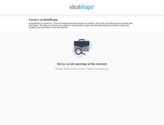 idealshape.workable.com screenshot