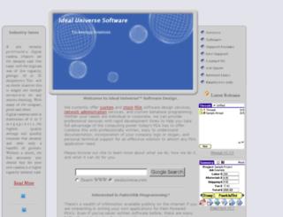 idealuniverse.com screenshot