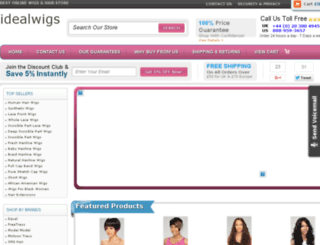 idealwigs.net screenshot