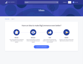 ideas.bigcommerce.com screenshot