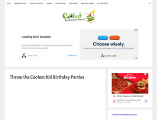 ideas.coolest-kid-birthday-parties.com screenshot
