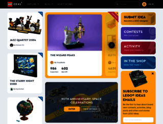 ideas.lego.com screenshot