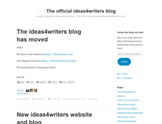 ideas4writers.wordpress.com screenshot