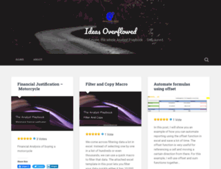 ideasoverflowed.wordpress.com screenshot