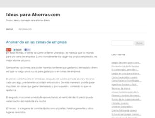 ideasparaahorrar.com screenshot