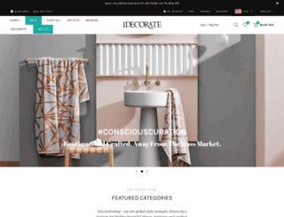 idecorate.myshopify.com screenshot