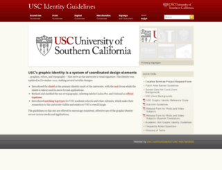identity.usc.edu screenshot