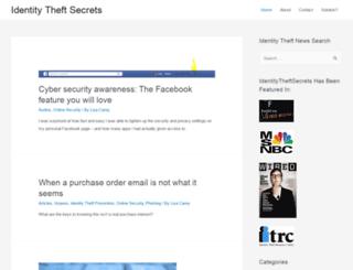 identitytheftsecrets.com screenshot