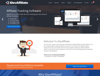 idevaffiliate.com screenshot
