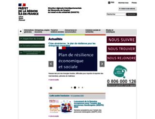idf.direccte.gouv.fr screenshot
