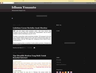 idhamyunanto.blogspot.com screenshot