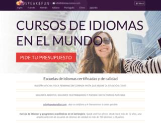 idiomas-cursos.com screenshot