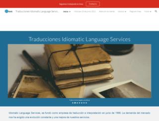 idiomatic.es screenshot