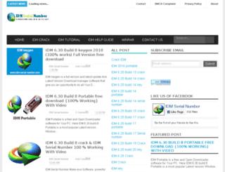 idm-serial-number.com screenshot