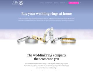 idoweddingrings.co.uk screenshot