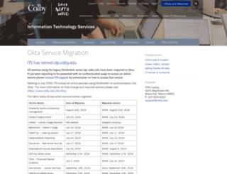 idp.colby.edu screenshot