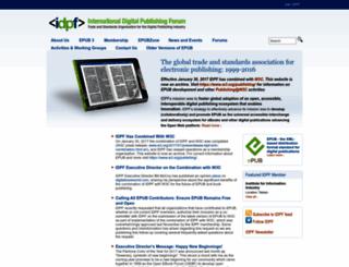 idpf.org screenshot