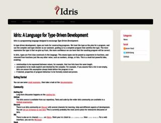 idris-lang.org screenshot