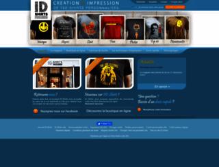 idshirts.fr screenshot